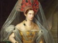 Alexandra_Fedorovna_in_yellow_Russian_dress_(1836,_A_Malyukov,_Hermitage)